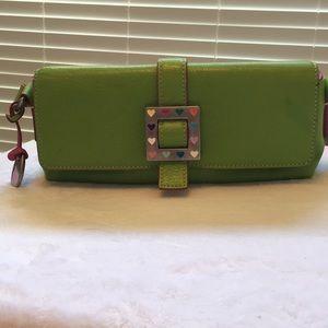 Super cute lime green & pink d&b mini heart clasp